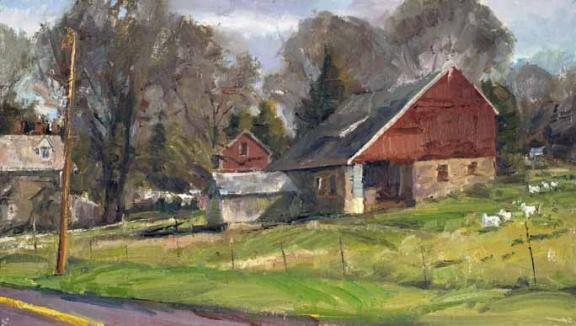 Bucks County Barn 9x16 by Howard Friedland.jpg