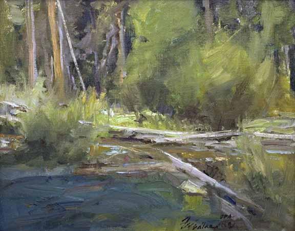 Along the Creek 8x10 by Howard Fridland.jpg
